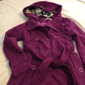 NWOT button up coat w/ belt